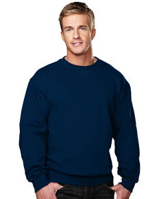 Tri-Mountain Men's Aspect Navy 3X Crewneck Sweatshirt - Tall, Navy, hi-res