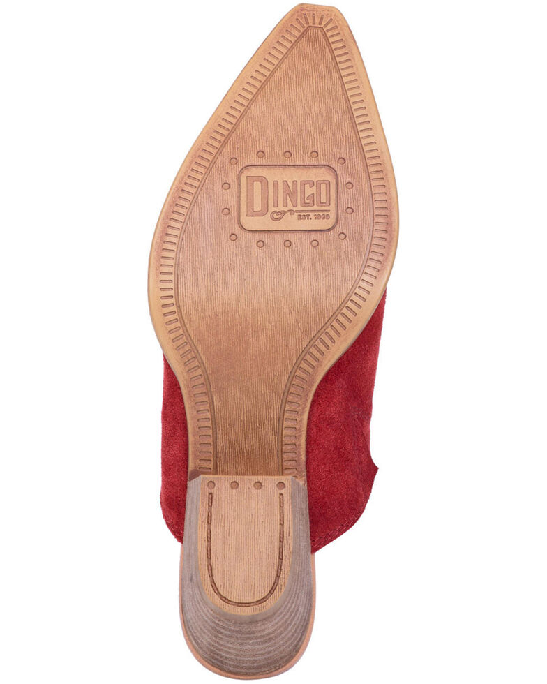 Dingo Women's Red Knockout Fashion Mules - Snip Toe, Red, hi-res