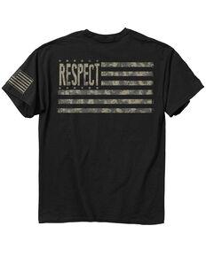 Buck Wear Men's Respect Digital Flag T-Shirt, Black, hi-res