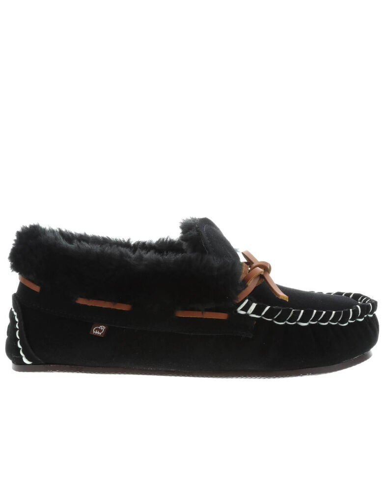 Lamo Footwear Women's Mila Slippers - Moc Toe, Black, hi-res