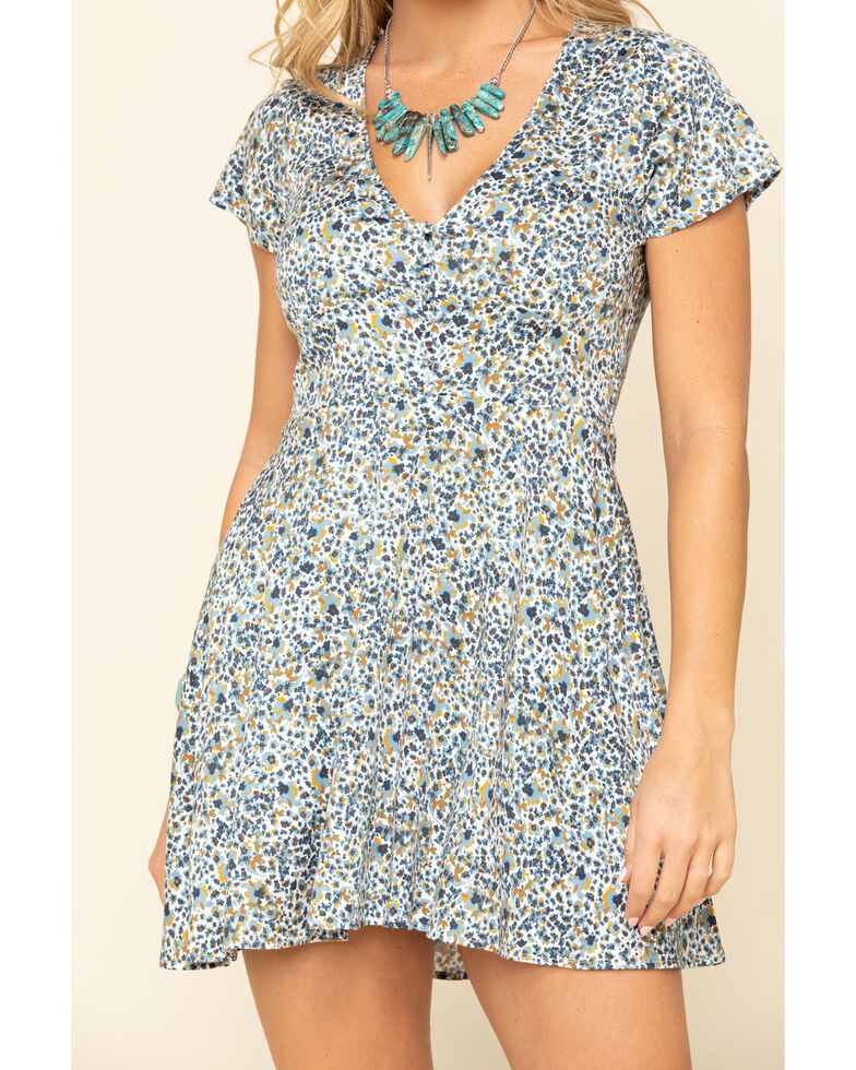 Idyllwind Women's Willow Floral Dress, Blue, hi-res