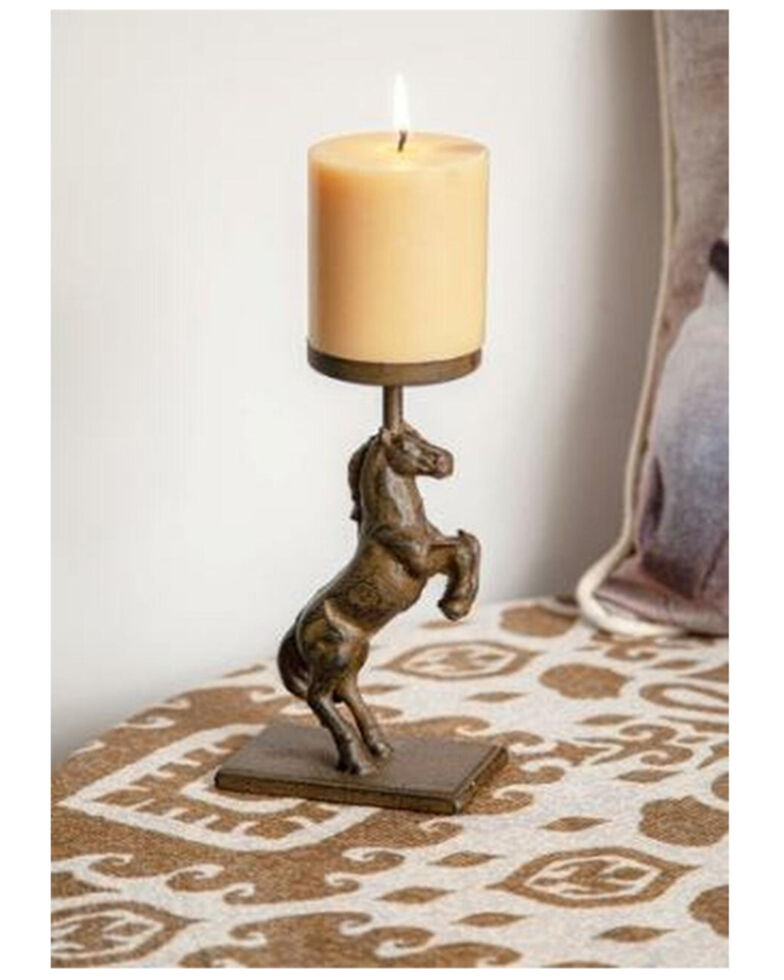 Manual Woodworkers Horse Candle Holder - Set of 2, Bronze, hi-res