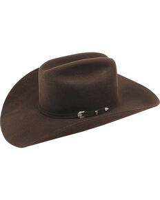 Ariat Men's 3X Wool Felt Cowboy Hat, Chocolate, hi-res