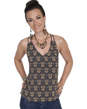 Scully Honey Creek Retro Print Cami, Navy, hi-res