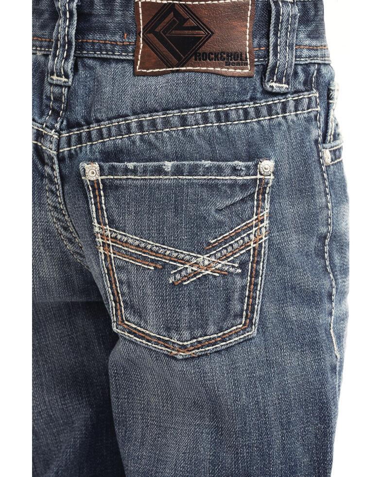 Rock & Roll Denim Boys' 45 BB Gun Medium Vintage Boot Jeans , Blue, hi-res