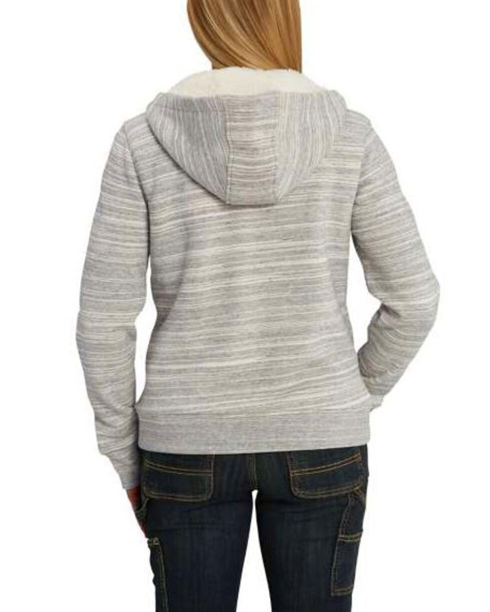 Carhartt Women's Grey Clarksburg Sherpa Lined Hoodie , Dark Grey, hi-res