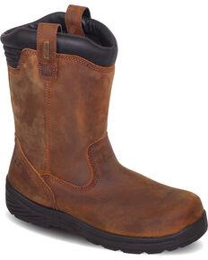 Thorogood Men's Waterproof Wellington Work Boots - Composite Toe, Brown, hi-res