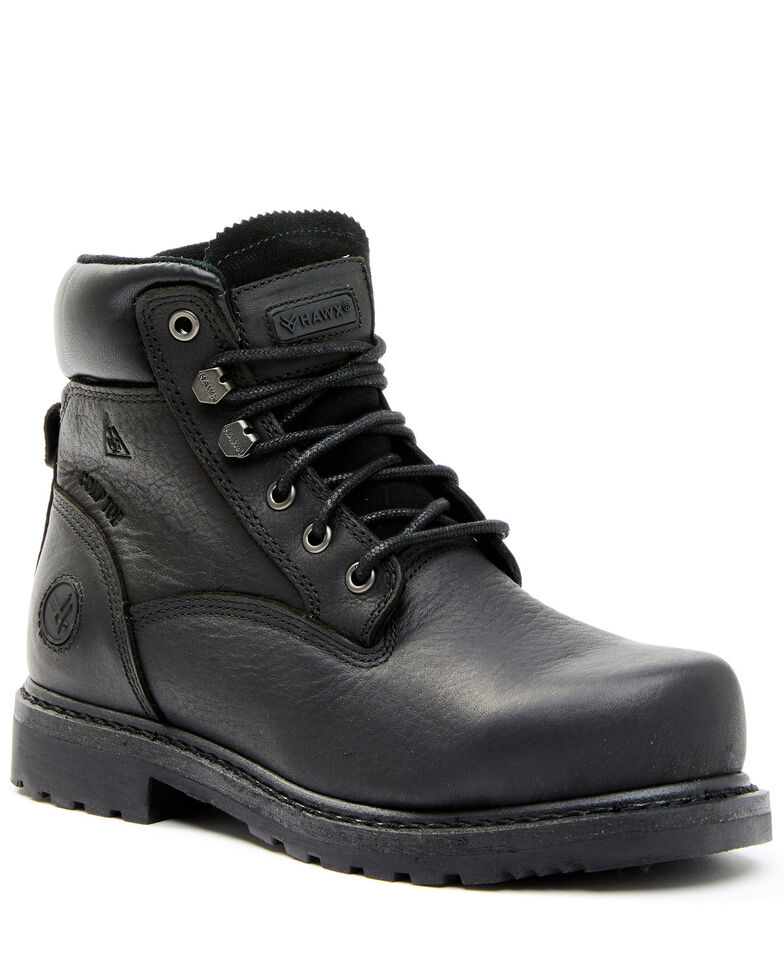 Hawx Women's Trooper Black Work Boots - Composite Toe, Black, hi-res
