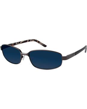 Realtree Men's Gunmetal Grey Metal Polarized Sunglasses, Black, hi-res