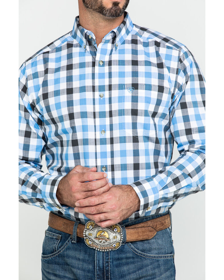 Ariat Men's Holbrook Multi Plaid Fitted Long Sleeve Western Shirt , Multi, hi-res