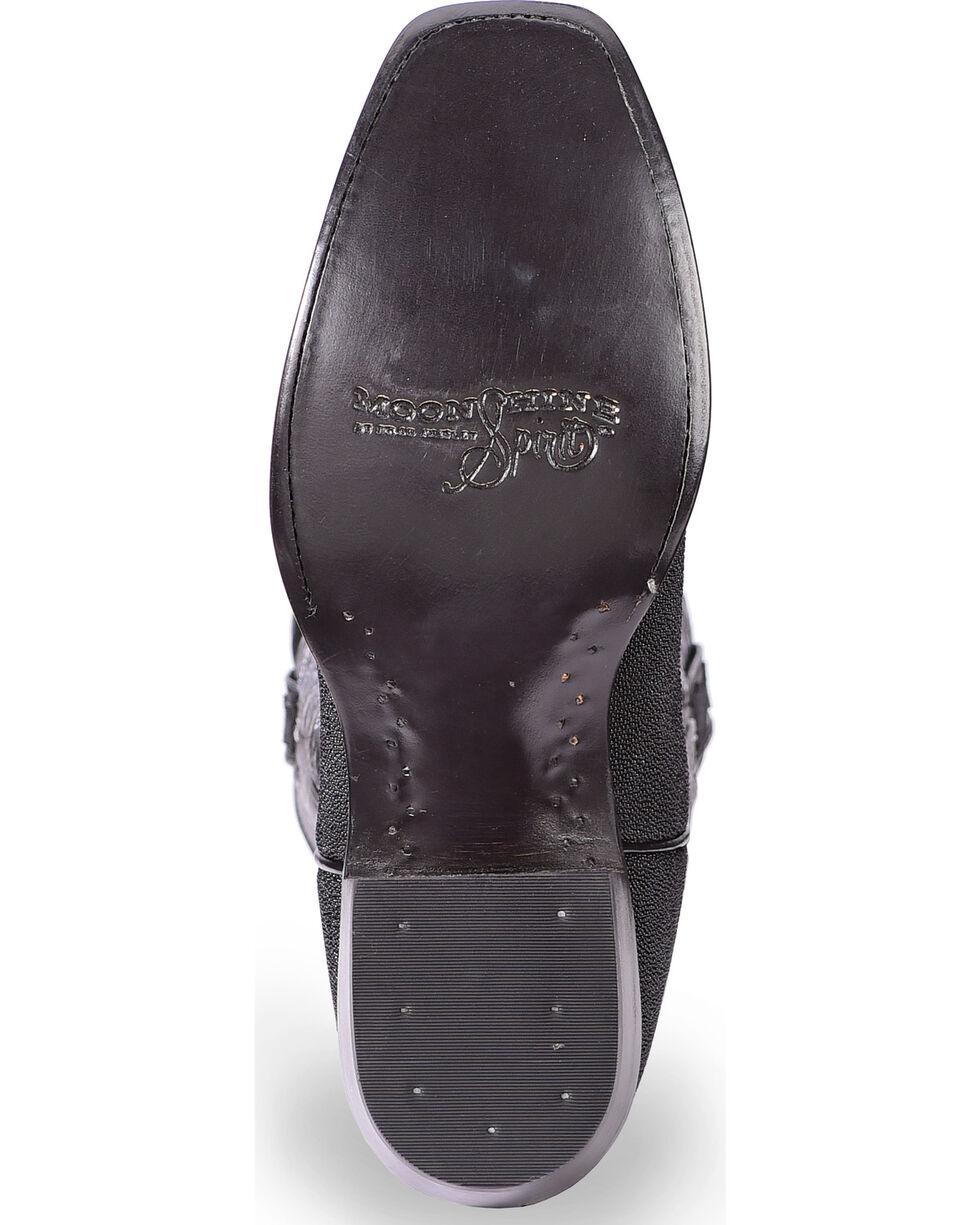 Moonshine Spirit Men's Stingray Exotic Boots - Square Toe, Black, hi-res