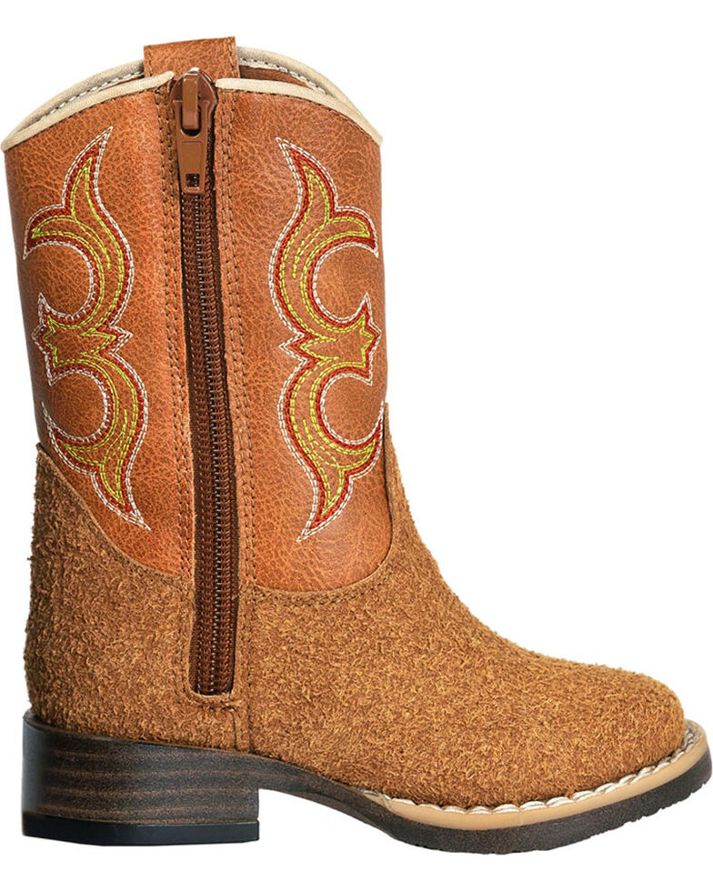 efced5e3ceb Double Barrel Toddler Boys' Rhett Rough Out Cowboy Boots - Square Toe