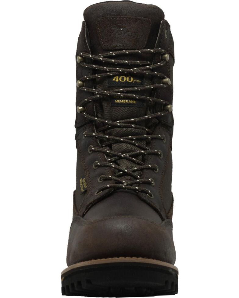 "Ad Tec Men's 11"" Cordura Waterproof 400G Leather Boots - Round Toe, Dark Brown, hi-res"