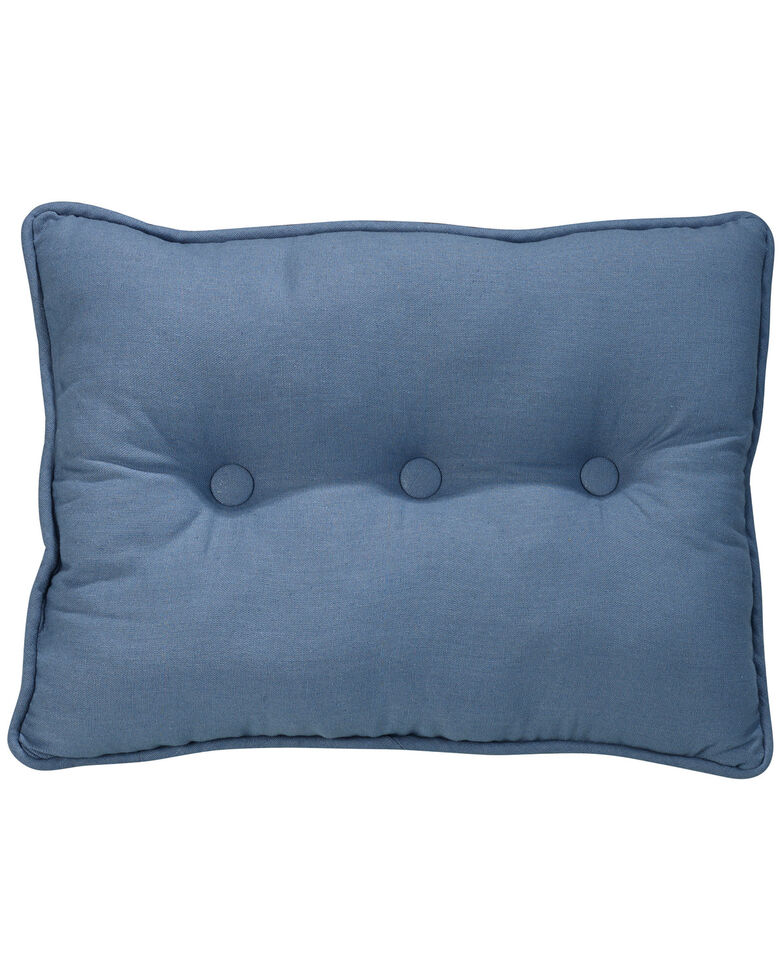 HiEnd Accents Monterrey Tufted Pillow , Indigo, hi-res