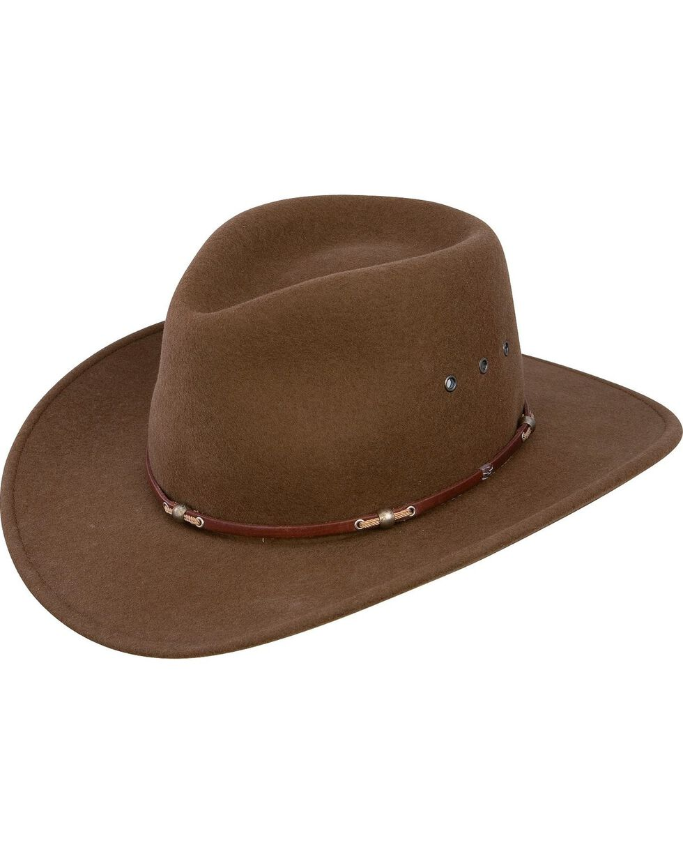 Stetson Wildwood Crushable Wool Hat, Acorn, hi-res