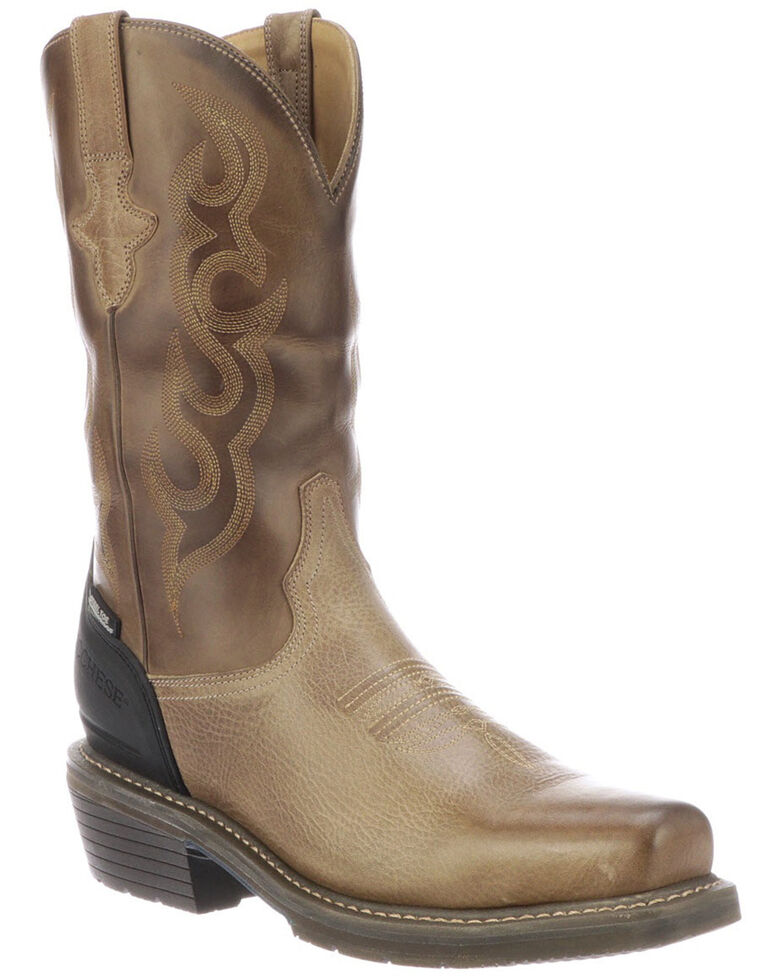 Lucchese Men's Waterproof Welted Western Work Boots - Steel Toe, Brown, hi-res