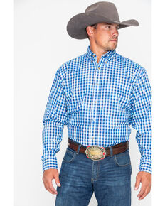 Wrangler Men's Assorted Riata Small Plaid Long Sleeve Western Shirt, Multi, hi-res