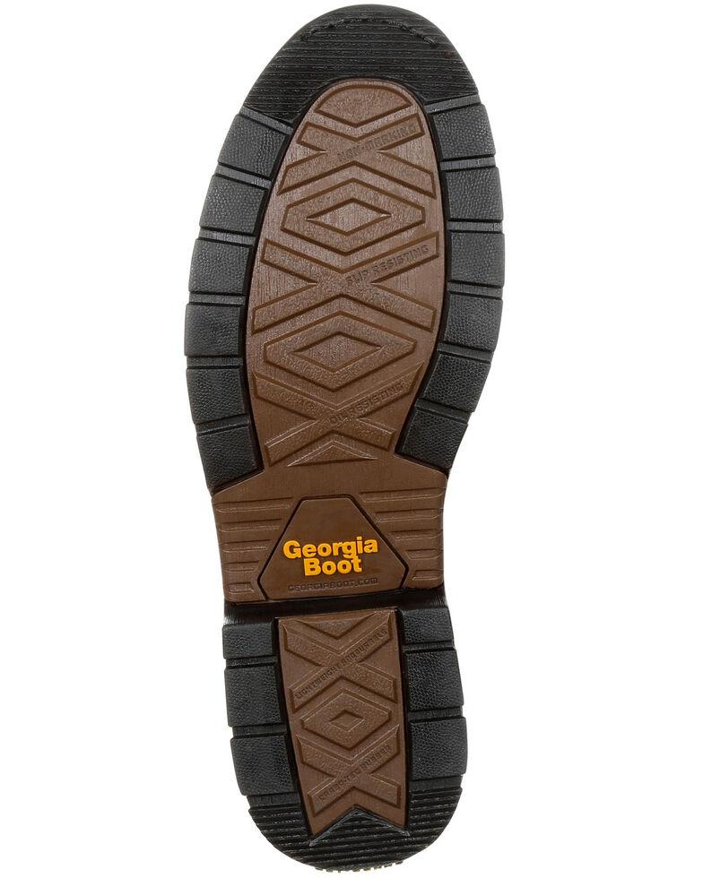 Georgia Boot Men's Carbo-Tec LT Waterproof Work Boots - Round Toe, Brown, hi-res