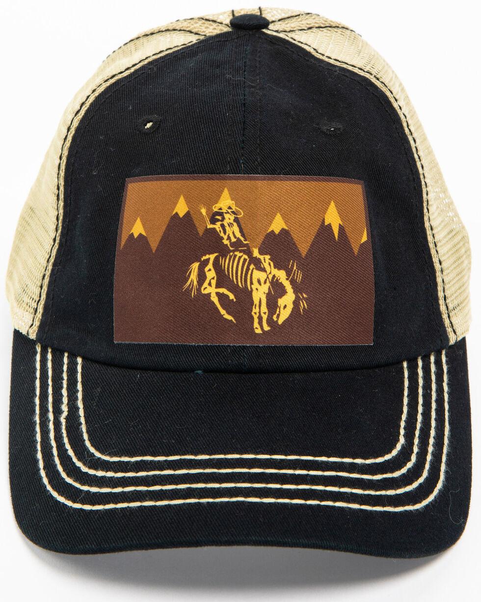 Cody James Men's Skeleton Cowboy Trucker Hat, Black, hi-res