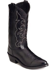 "Jama Men's Trucker Cowboy 13"" Work Boots, Black, hi-res"