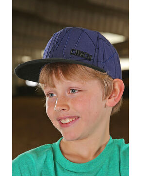 Cinch Boys' Geometric Embroidered Trucker Cap, Navy, hi-res