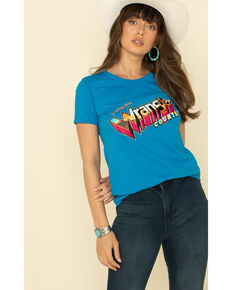 Wrangler Retro Woman's Wrangler Country Graphic Tee, Blue, hi-res