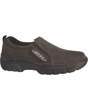 Roper Footwear Men's Performance Sport Slip On Shoes, Brown, hi-res