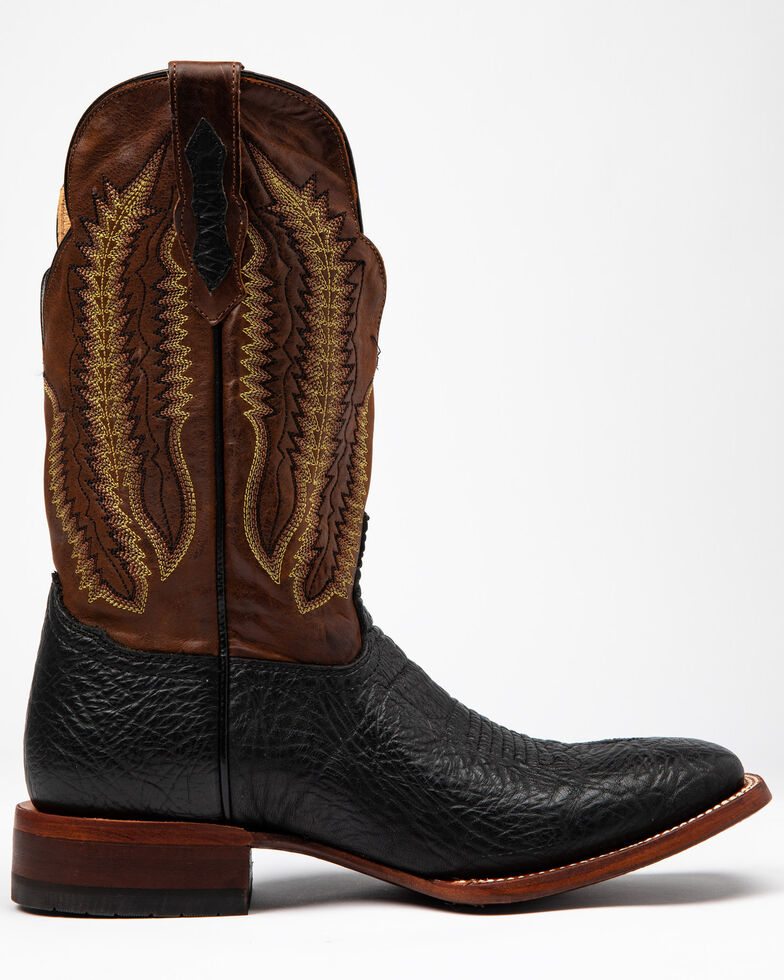Cody James Men's Buck Western Boots - Wide Square Toe, Black/brown, hi-res
