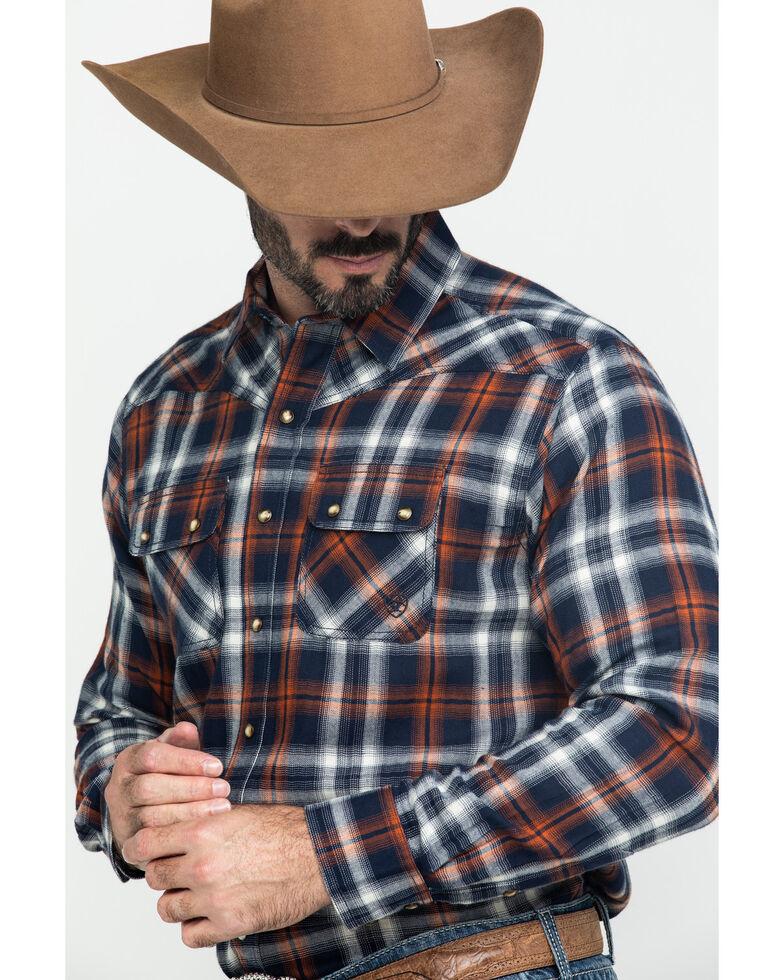 Ariat Men's Jerome Retro Med Plaid Long Sleeve Western Shirt , Blue, hi-res