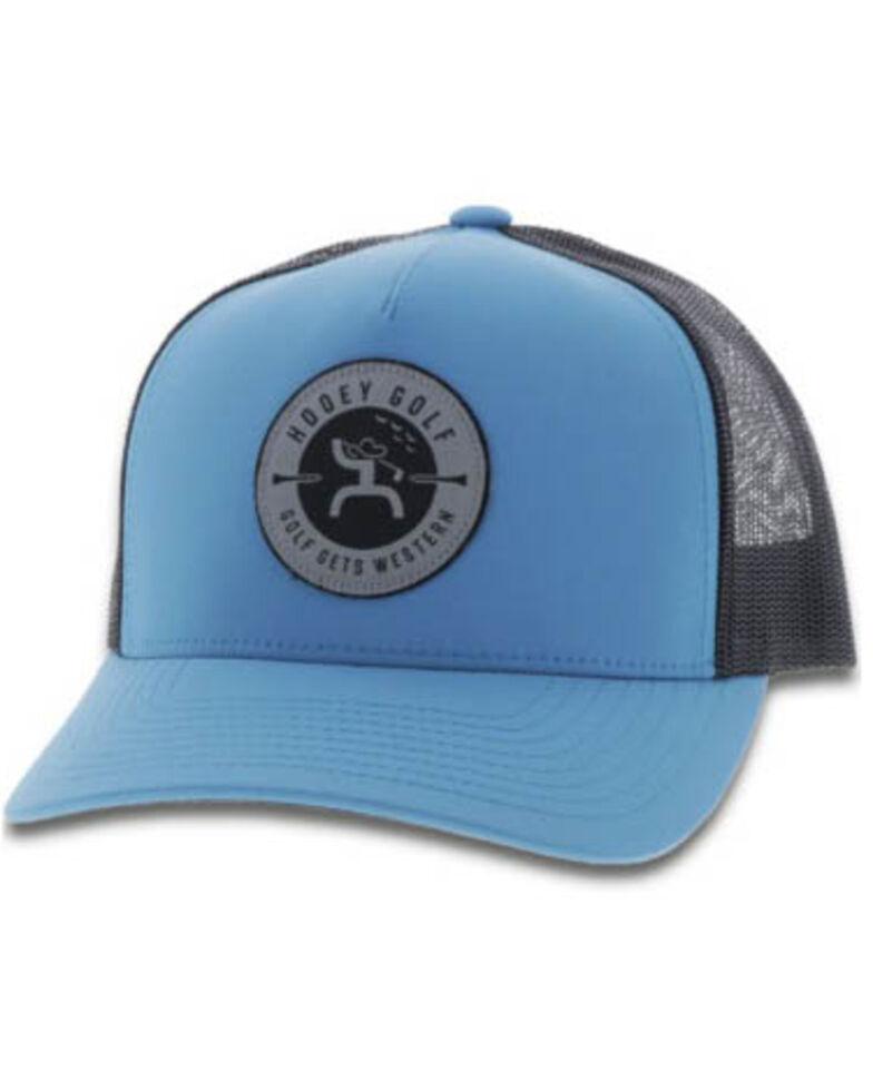 HOOey Men's Blue Golf Logo Patch Cap , Blue, hi-res