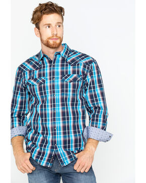 Moonshine Spirit Men's Gulch Plaid Shirt , Aqua, hi-res