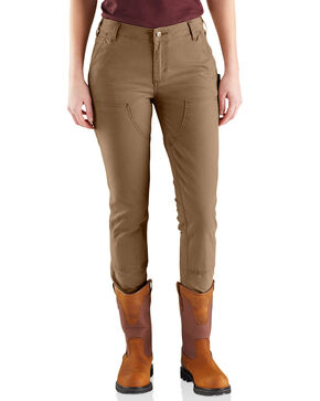 Carhartt Women's Slim-Fit Crawford Double-Front Pants , Tan, hi-res