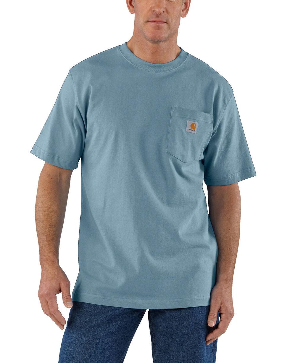 Carhartt Short Sleeve Pocket Work T-Shirt, Steel Blue, hi-res