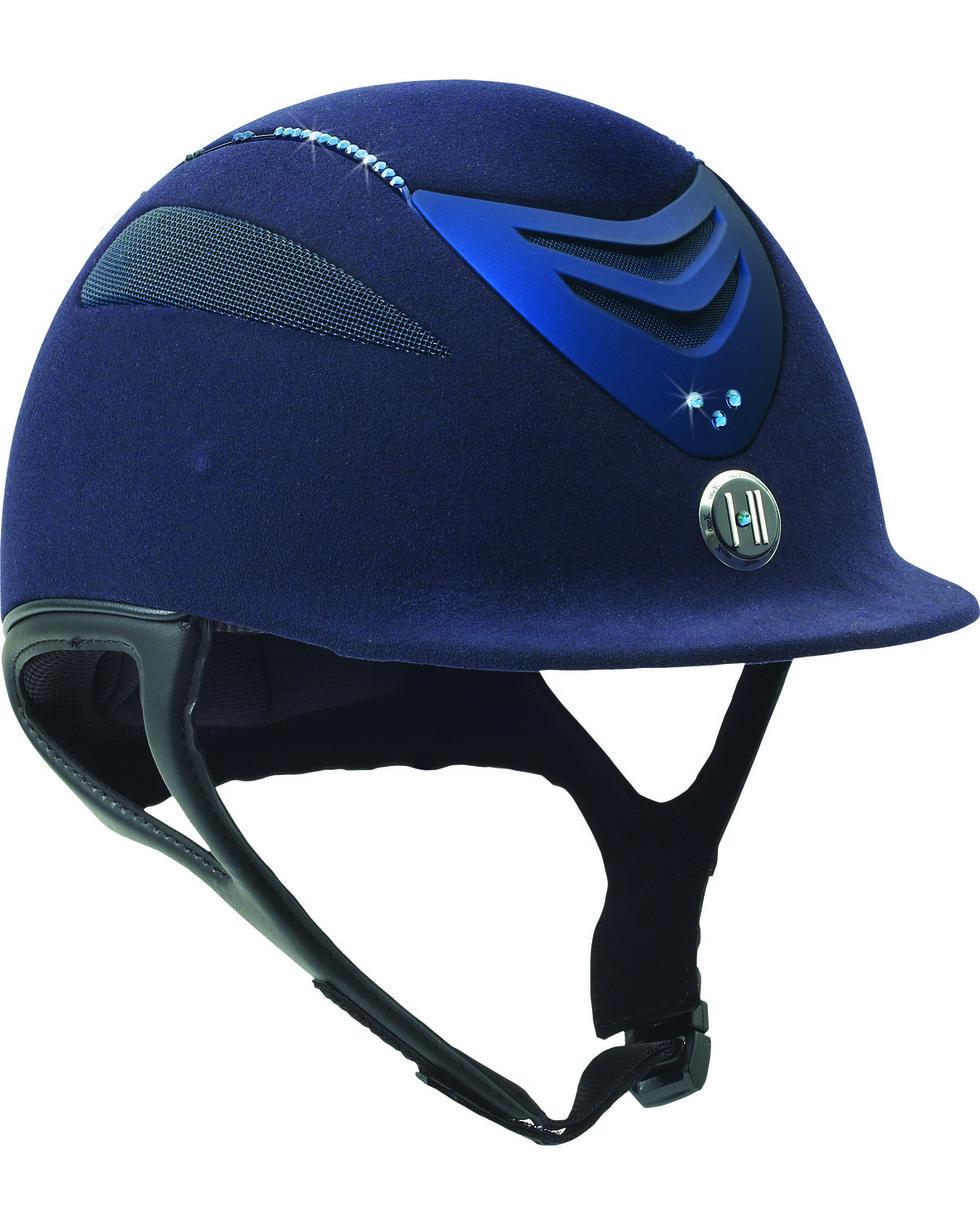 One K Defender Suede & Swarovski Stones Helmet, Navy, hi-res