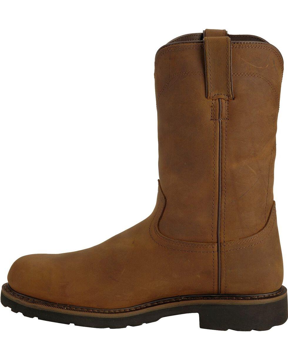 """Justin Men's Wyoming 10"""" Waterproof Steel Toe Work Boots, Brown, hi-res"""