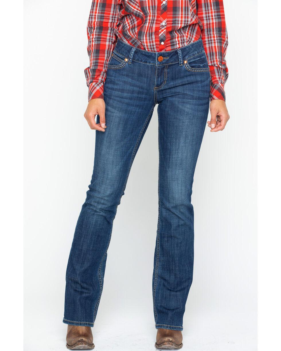 Wrangler Retro Women's Sadie Low Rise Boot Cut Jeans , Indigo, hi-res