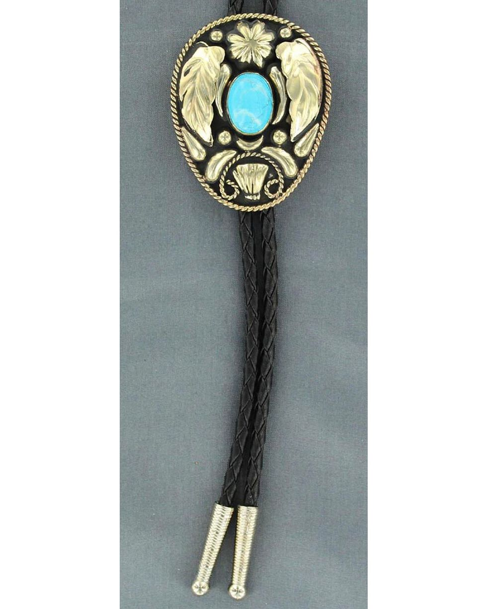 Wings & Turquoise Stone Bolo Tie, Multi, hi-res