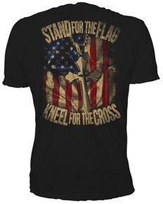 Bullseye Ventures Men's Stand For The Cross Graphic T-Shirt , Black, hi-res