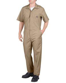 Dickies Short Sleeve Work Coveralls - Big & Tall, Khaki, hi-res