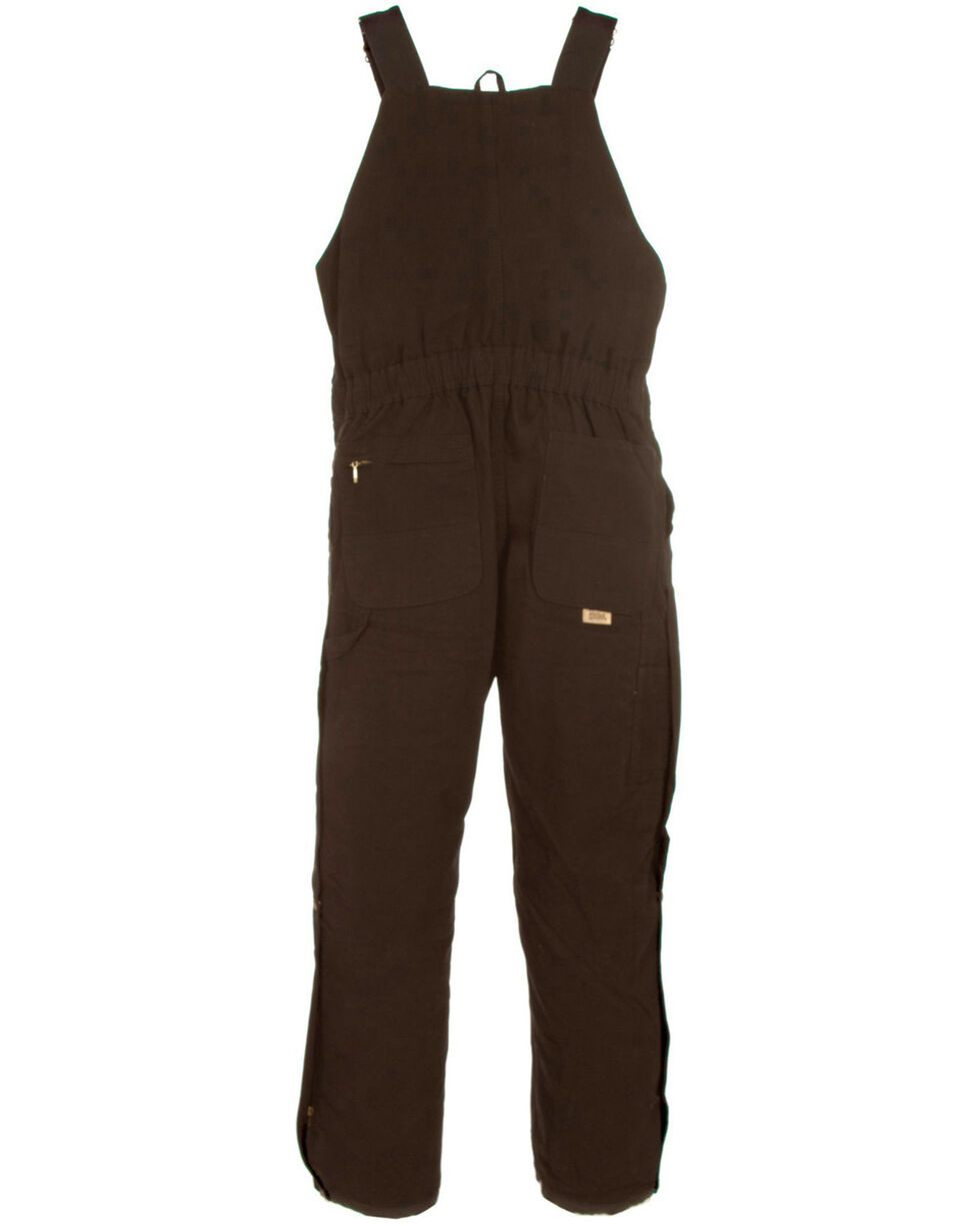 Berne Ladies Washed Insulated Bib Overalls - Reg. Tall, Dark Brown, hi-res