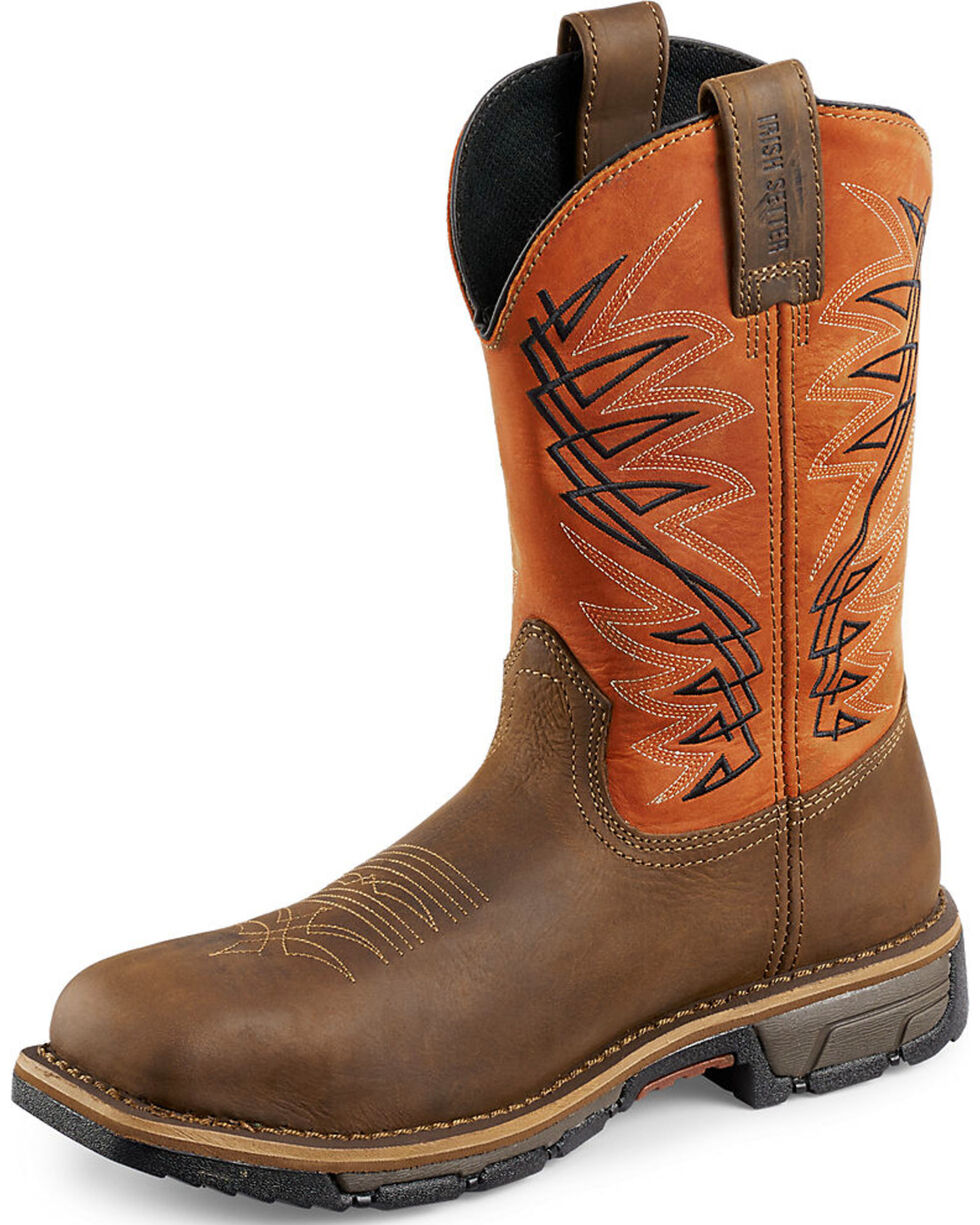 Irish Setter by Red Wing Shoes Men's Marshall Work Boots - Steel Toe , Brown, hi-res