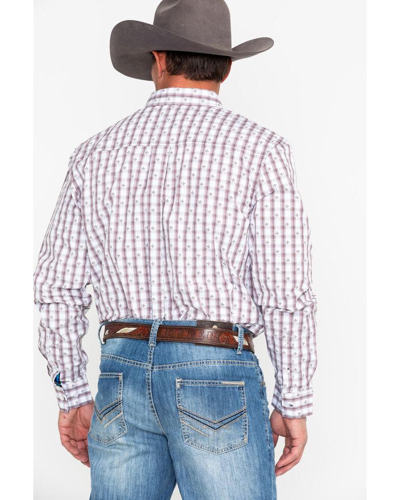 Cody James Core Men's Side Step Plaid Long Sleeve Western Shirt, Brown, hi-res