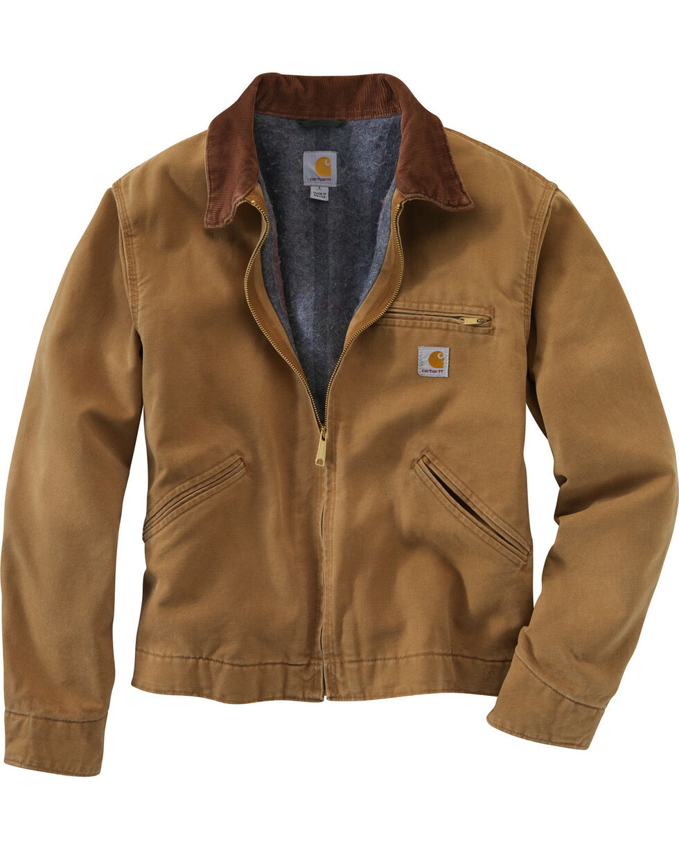 Carhartt Men's Duck Detroit Jacket, Carhartt Brown, hi-res