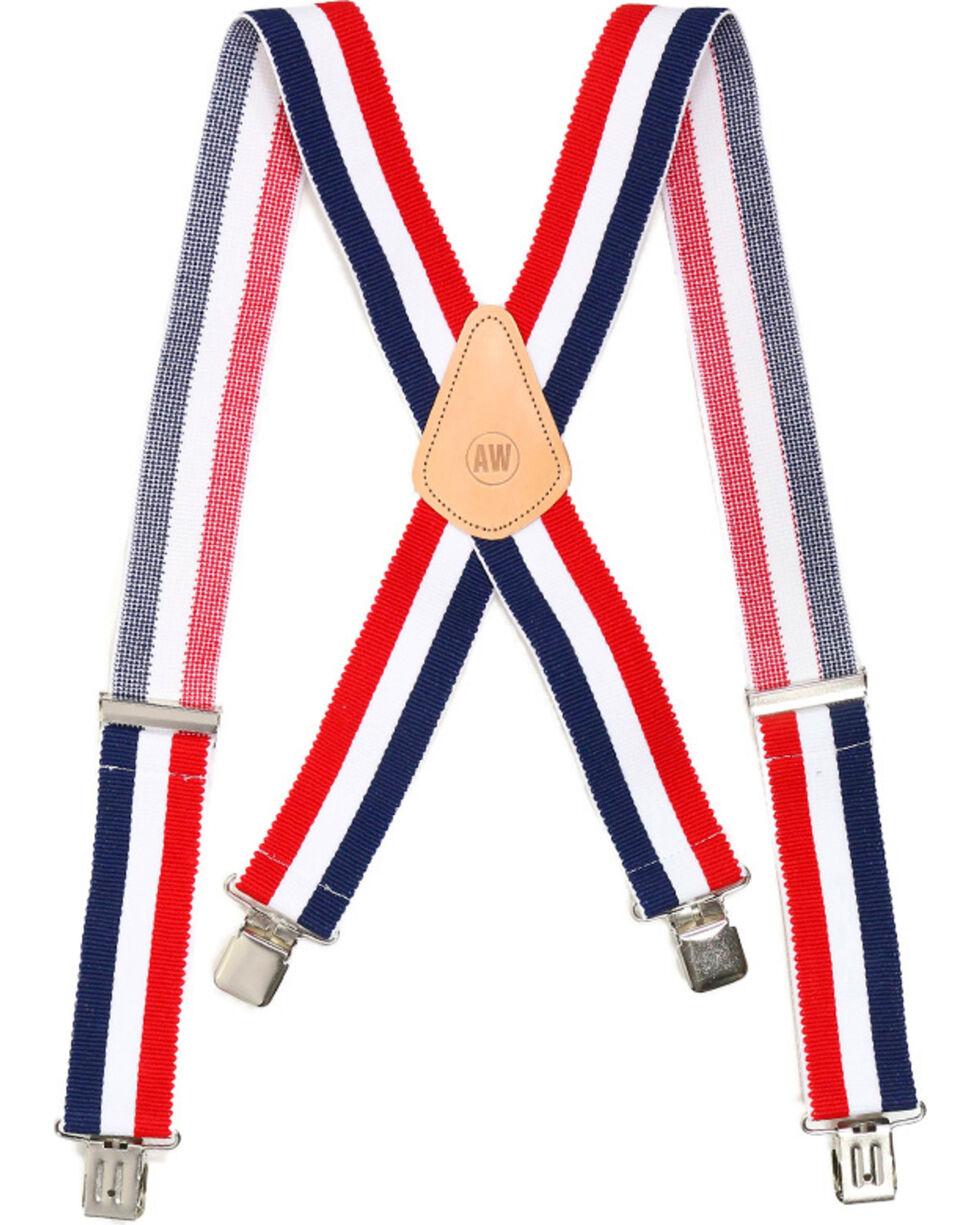American Worker® Men's Suspenders, Red/white/blue, hi-res
