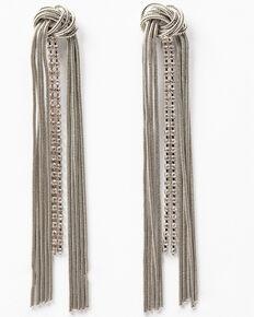 Idyllwind Women's Moon Dance Drop Fringe Earrings, Silver, hi-res