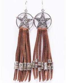 Idyllwind Women's Wishing On A Star Fringe Earrings, Silver, hi-res
