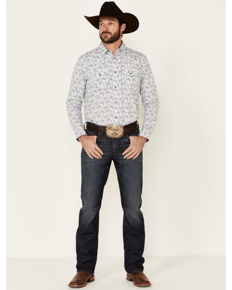 Cody James Men's Painted Paisley Print Long Sleeve Snap Western Shirt , Ivory, hi-res