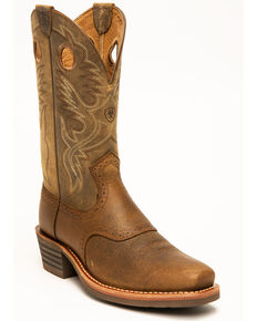 Ariat Men's Roughstock Heritage Western Boots, Earth, hi-res