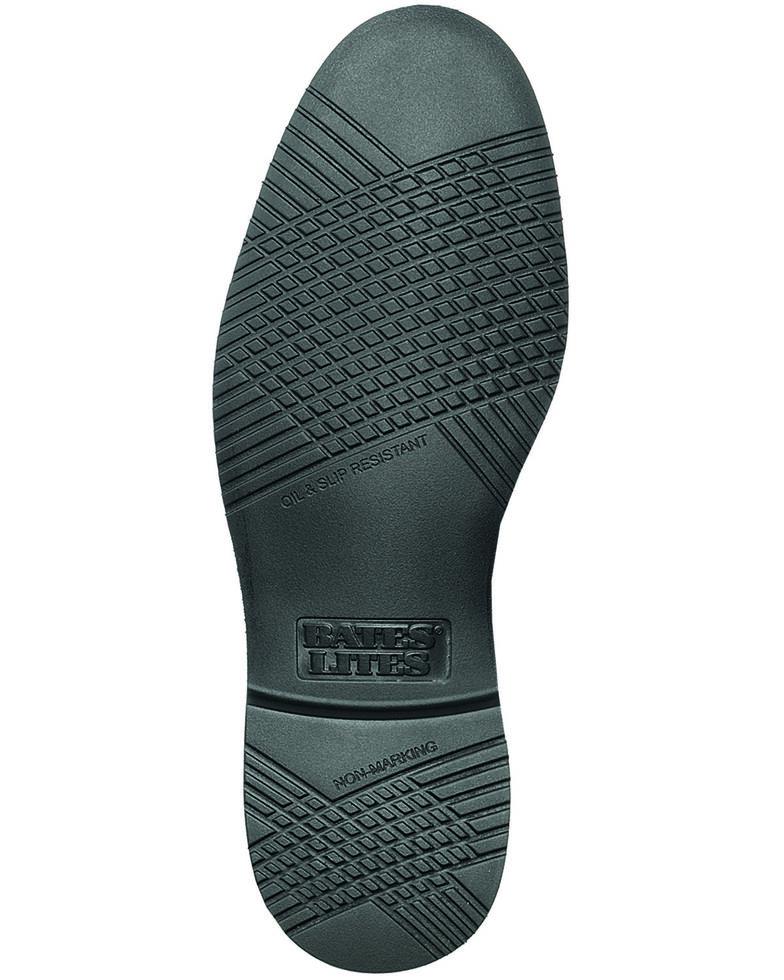 Bates Men's Black Leather Oxford Shoes, Black, hi-res