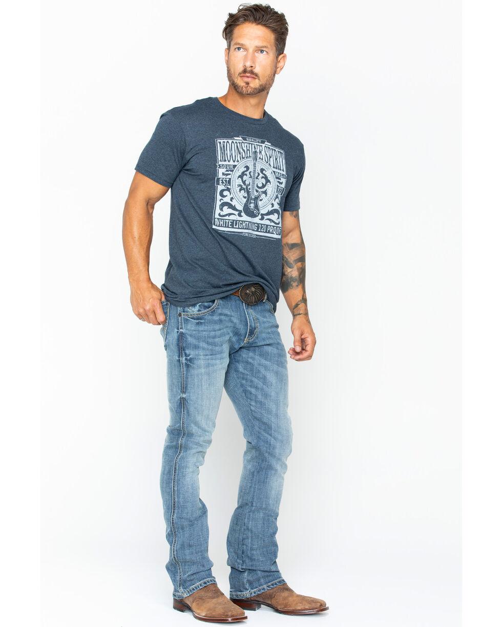 Moonshine Spirit Men's Etched Poster T-Shirt, Blue, hi-res